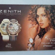 Relojes - Zenith: ZENITH POSTAL PUBLICITARIA. Lote 248190600