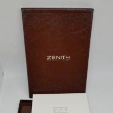 Relojes - Zenith: CATALOGO RELOJ ZENITH COLECCION 2001 CON SOBRE ESTUCHE SIN USO. Lote 260751100