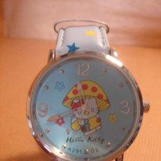 Relojes: RELOJ HELLO KITTY AZUL INFANTIL NIÑO CORREA AZUL TIPO PIEL. Lote 25542516