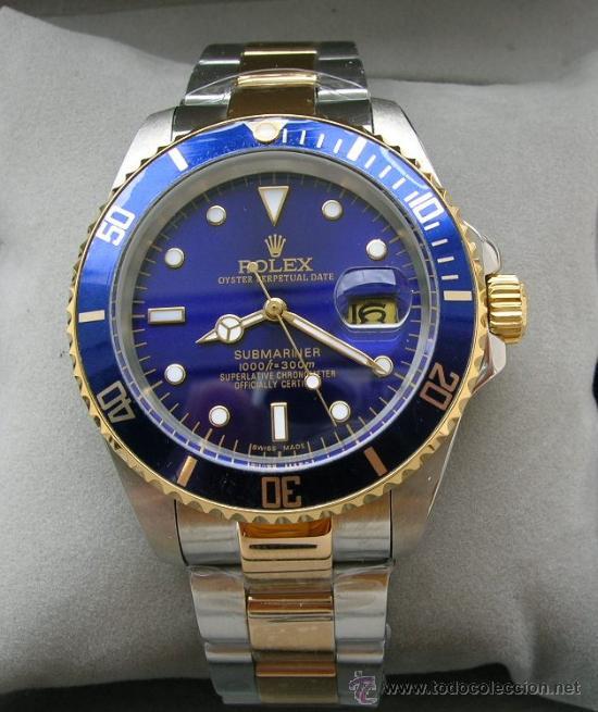 8aaccdd2b2fd8 Rolex submariner azul acero-oro 18 kt (réplica) - Vendido en Venta ...