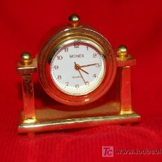 Relojes: RELOJ EN MINIATURA - FUNCIONANDO MARCA MONEX CUARZ. Lote 26283245