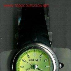 Relojes: BONITO RELOJ DE PULSERA MARCA NINE WEST, DE ACERO INOXIDABLE. ESFERA REDONDA GRANDE VERDE PISTACHO. . Lote 23750823