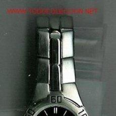 Relojes: BONITO RELOJ DE PULSERA MARCA ANNE KLEIN II. CON FECHA. ESFERA NEGRA SIN NÚMEROS. MINUTOS SEÑALADOS . Lote 23733629
