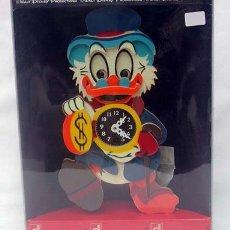 Relojes: RELOJ INFANTIL TÍO GILITO WALT DISNEY ARTELEGNO MADERA PINTADA A CUERDA MADE IN ITALY AÑOS 70 NUEVO. Lote 142177280