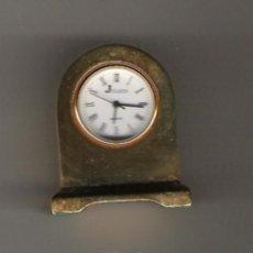 Relojes: PRECIOSO RELOJ DE COLECCION DE MARCA J CLOCK DE 4 CM. DE ALTURA TODO EN BRONCE . Lote 17151509