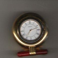 Relojes: PRECIOSO RELOJ DE COLECCION DE MARCA ODEON DE 6 CM. DE ALTURA TODO DE BRONCE CON SOPORTE . Lote 20174374