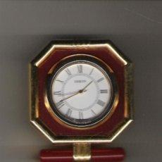 Relojes: PRECIOSO RELOJ DE COLECCION DE MARCA J WATCH DE 6 CM. DE ALTURA BRONCE Y CRISTAL CON SOPORTE . Lote 20995108