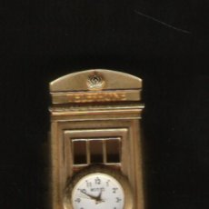 Relojes: PRECIOSO RELOJ DE COLECCION DE MARCA MOTTI DE 9 CM. DE ALTURA CABINA DE TELEFONO EN BRONCE . Lote 17106608
