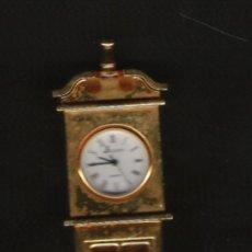 Relojes: PRECIOSO RELOJ DE COLECCION DE MARCA J CLOCK DE 13,5 CM. DE ALTURA TODO EN BRONCE . Lote 20634952