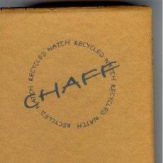 Relojes: RELOJ J&B CHAFF EDICIÓN ULTRALIMITADA REALIZADO EN 1999 - NUMERADO - EN CAJA - MUY RARO. Lote 36146899