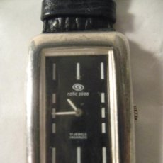 Relojes: RELOJ CAJA PLATA ROTIC 2000. Lote 26283830