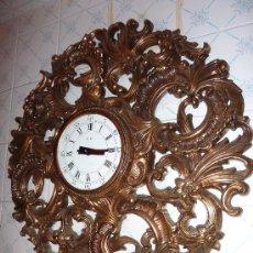 Relojes: RELOJ PARED LABRADO EN RESINA. Lote 17104657