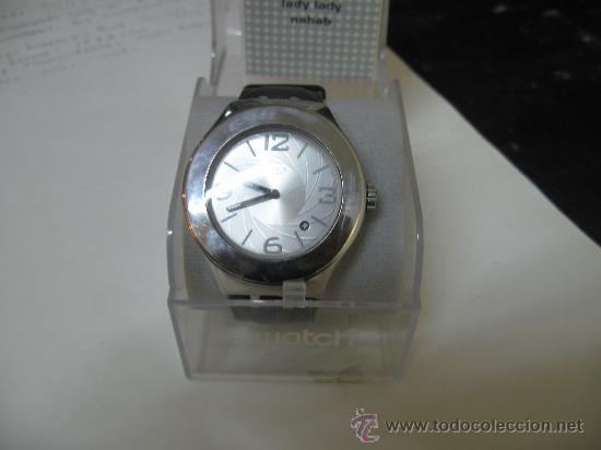RELOJ SWATCH ACERO CORREA Y CAJA INSTRUCCIONES ORIGINAL MODELO BOND 007 AÑO 2001 - FUNCIONANDO (Relojes - Relojes Actuales - Otros)