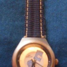 Relojes: RELOJ DE PULSERA MARCA CITIME CON IMAGEN EN ESFERA DE BART SIMSON EN AZULES Y GRIS.VER FOTOS. Lote 26928345