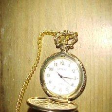 Relojes: RELOJ DE BOLSILLO GENEVA CON CADENA . QUARTZ. CON GRABADO DE PATOS SALVAJES.. Lote 236495150