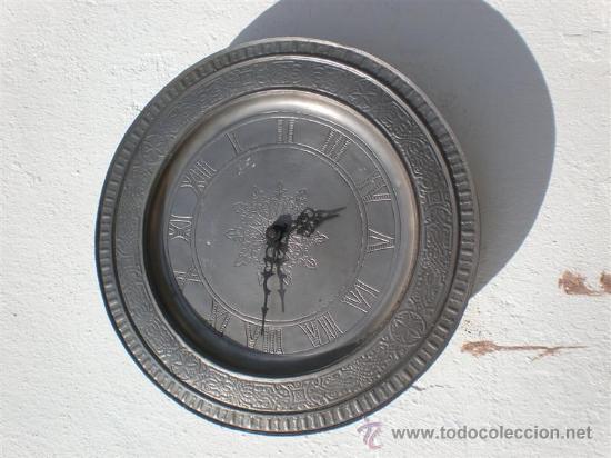 Relojes: reloj de pared automatico plato de estaño - Foto 2 - 23313756