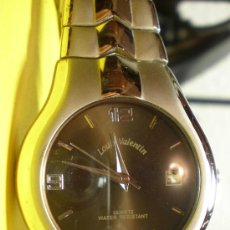 Relojes: RELOJ LOUIS VALENTIN ESFERA OSCURA.CALENDARIO.QUARTZ.SUMERGIBLE. Lote 25390855