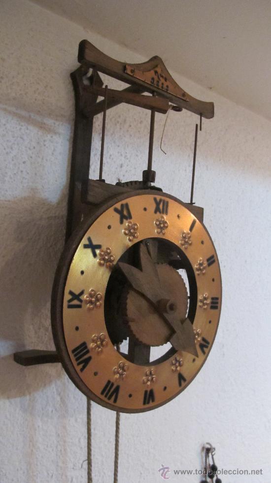 Replica reloj pared grande de metal y madera nu comprar - Relojes grandes pared ...
