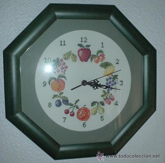 reloj de pared bordado a mano con marco madera - Comprar Relojes ...