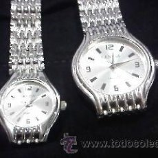 Relojes: PRECIOSA PAREJA DE RELOJES PARA EL Y PARA ELLA DE LA MARCA GENEVA. Lote 29384106
