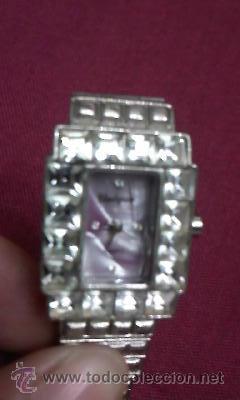 Relojes: Precioso reloj de señora marca UNIQUE con esfera en lila con 4 piedrecitas marcando la hora. - Foto 2 - 30191749