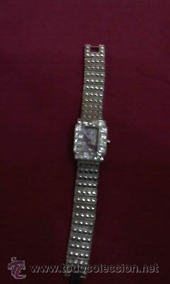 Relojes: Precioso reloj de señora marca UNIQUE con esfera en lila con 4 piedrecitas marcando la hora. - Foto 3 - 30191749