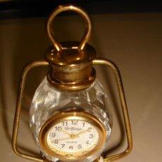 Relojes: RELOJ DE COLECCION AUTOMATICO DE METAL Y CRISTAL CON FORMA DE CANDIL. MARCA LE TEMPS, QUARTZ . Lote 30353093