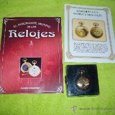 Relojes: RELOJ DE BOLSILLO SABONETA CON MOTIVOS VEGETALES DE COLECCION DEL 2002. Lote 30366118