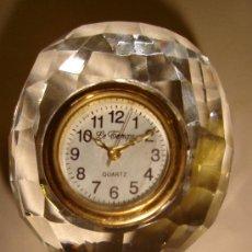 Relojes: RELOJ DE COLECCION AUTOMATICO DE METAL Y CRISTAL CON FORMA DE GLOBO. MARCA LE TEMPS, QUARTZ . Lote 30371364