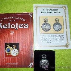 Relojes: RELOJ DE BOLSILLO SABONETA PARA FERROVIARIOS DE COLECCION DEL 2002. Lote 30372189