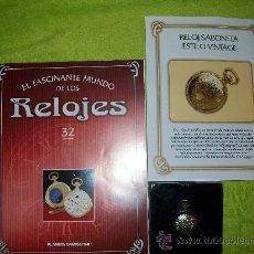 Relojes: RELOJ DE BOLSILLO SABONETA ESTILO VINTAGE DE COLECCION DEL 2002. Lote 30373193