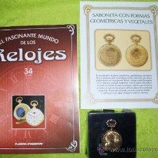 Relojes: RELOJ DE BOLSILLO SABONETA CON FORMAS GEOMETRICAS Y VEGETALES DE COLECCION DEL 2002. Lote 30373697