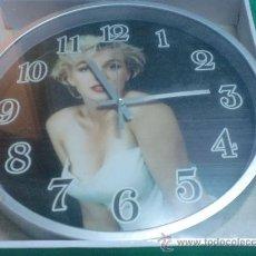 Relojes: RELOJ DE PARED MARILYN MONROE NUEVO PRECINTADO. Lote 31220905