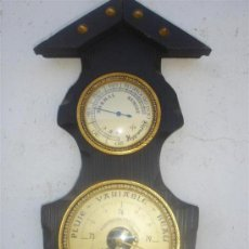 Relojes: BAROMETRO MADERA RUSTICA. Lote 31963611