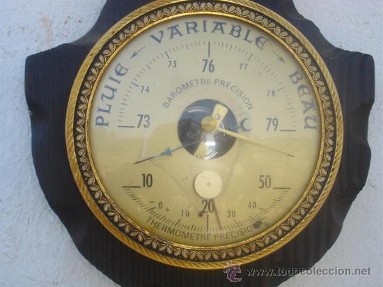 Relojes: barometro madera rustica - Foto 2 - 31963611