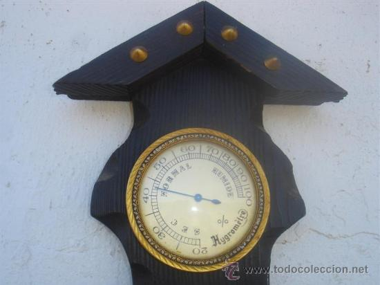 Relojes: barometro madera rustica - Foto 3 - 31963611