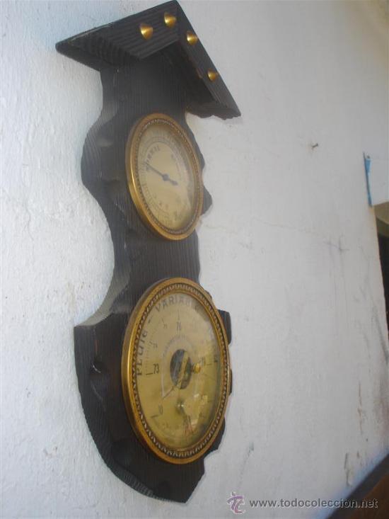 Relojes: barometro madera rustica - Foto 4 - 31963611