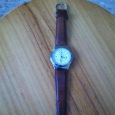 Relojes: 1 RELOJ DE PULSERA DE CORREA DE PIEL MARCA PERTEGAZ REGALO DE LA CAIXA PARA SUS CLIENTES. Lote 33586704