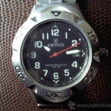 Relojes: RELOJ MARCA KRONOS DE CUARZO DE CORONA ROSCADA. Lote 34135751