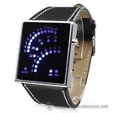 Relojes: RELOJ PULSERA MINIMALISTA DE LEDS AZULES UNISEX · NUEVO . Lote 34698075