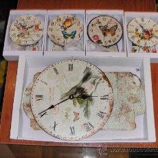 Relojes: LOTE 5 RELOJ PARED DECORACION PENDULO NUEVOS. Lote 35833202
