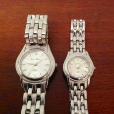 Relojes: PAREJA RELOJES LOLA MUÑOZ QUARTZ TIMEPIECES. Lote 75300126