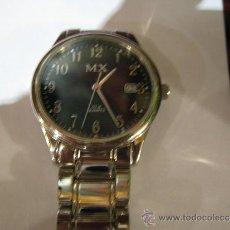Relojes: RELOJ DE CABALLERO CUARZO - MX - ESFERA NEGRA - FUNCIONA. DIÁMETRO ESFERA 3,5 CM.. Lote 36227536