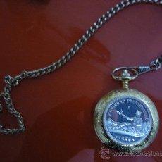 Relojes: RELOJ DE BOLSILLO CON MONEDA DE PLATA,1 PESETA 1869.. Lote 36396036