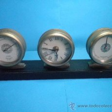 Relojes: RELOJ + THERMO + HIGRO MARCA HUGER. Lote 37007203