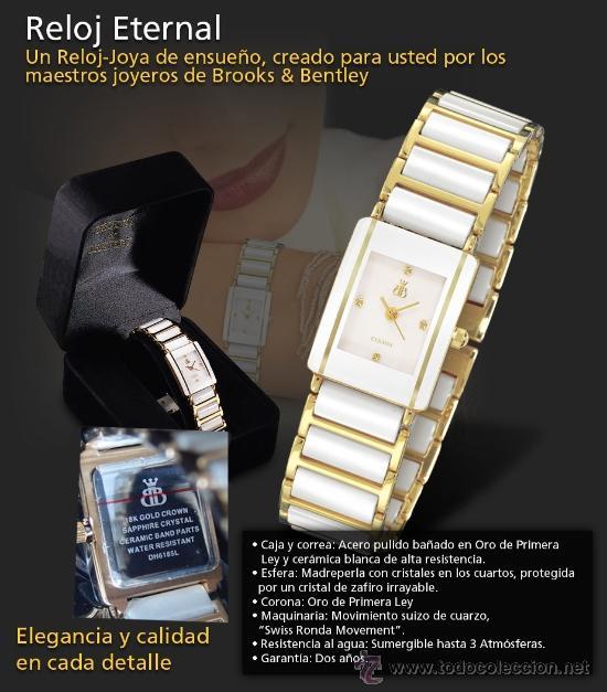 ca1ff8ecfa45 3 fotos RELOJ MARCA BROOKS   BENTLEY DE MUJER NUEVO (Relojes - Relojes  Actuales - Otros) ...