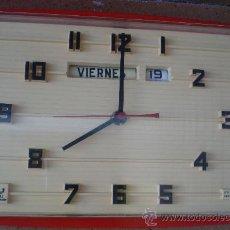 Relojes: RELOJ DE PARED JAZ TRANSISTOR, MADE IN FRANCE. Lote 37412101