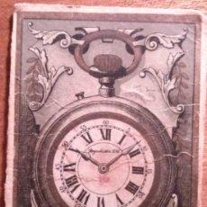 Relojes: RARISIMA TARJETA DE PUBLICIDAD RELOJ REGULADOR D.G.. Lote 37788652