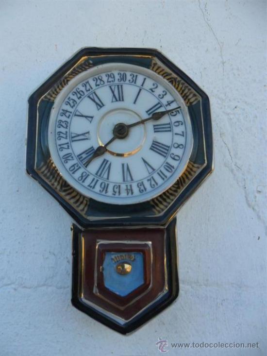 RELOJ DE PORCELANA SIN MAQUINARIA ANTIGUA ORIENTAL (Relojes - Relojes Actuales - Otros)