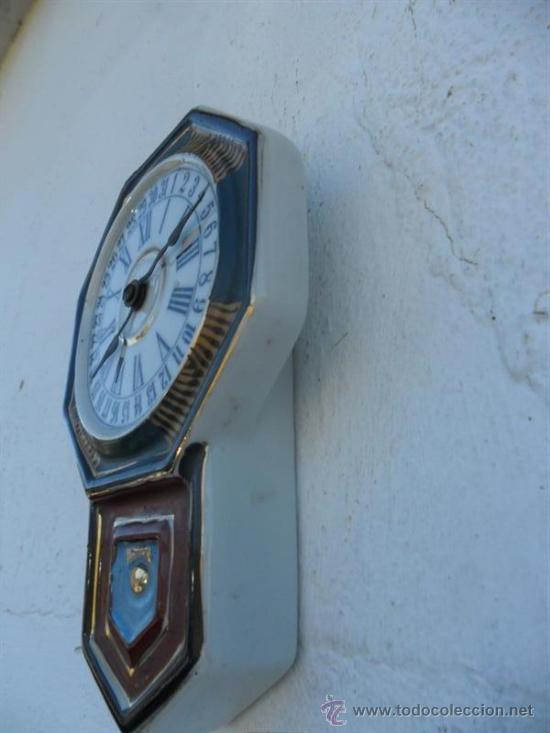 Relojes: reloj de porcelana sin maquinaria antigua oriental - Foto 2 - 37831562